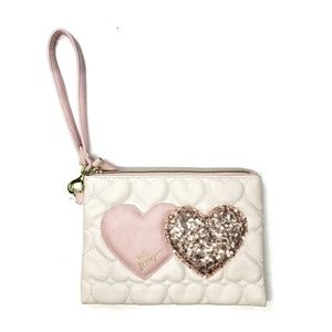 "BETSEY JOHNSON - ""double the love"" hearts wristlet"